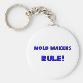 Mold Makers Rule! Basic Round Button Keychain