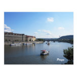 Moldava River, Prague Post Card