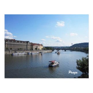 Moldava River, Prague Postcard