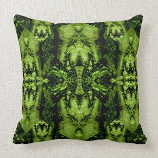 Moldavite I gemstone fractal art pillow
