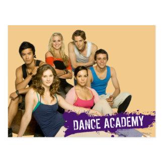 Molde de la academia de la danza postales