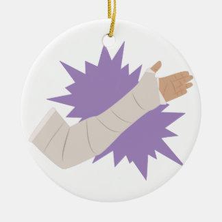 Molde del brazo adorno navideño redondo de cerámica