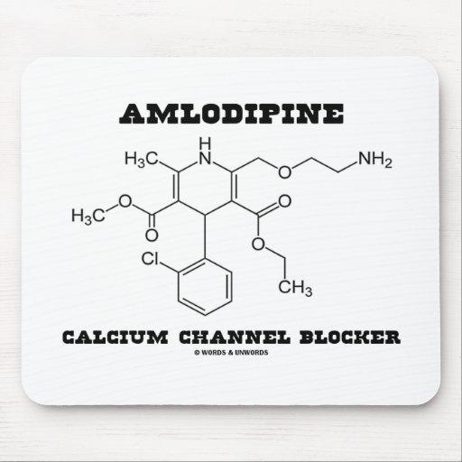 Molde del canal del calcio de Amlodipine (química) Mouse Pad