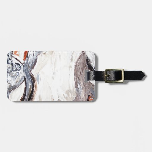 Molde humano original (expresionismo abstracto) etiqueta para maleta