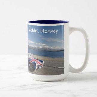 molde, Noruega Taza De Café De Dos Colores
