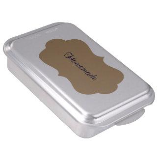 Molde para pasteles con la etiqueta de oro