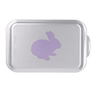 Molde para pasteles púrpura del conejito de pascua