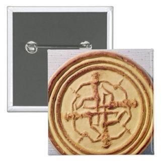 Molde que representa a cuatro guerreros pin cuadrado