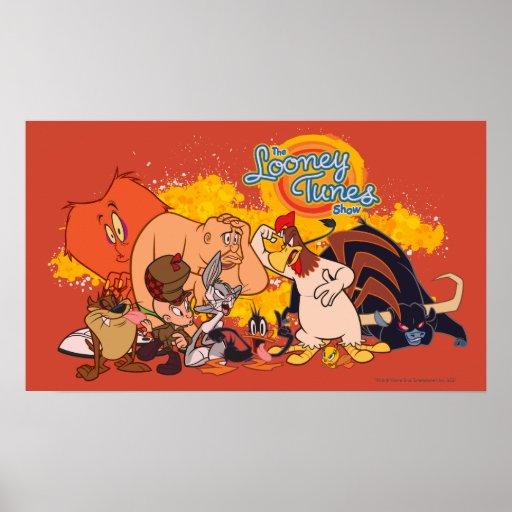 Molde y logotipo Looney de la demostración de los  Póster