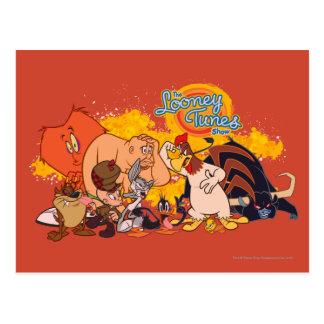 Molde y logotipo Looney de la demostración de los Tarjeta Postal