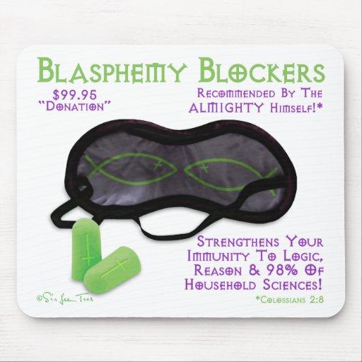 Moldes de la blasfemia tapetes de raton