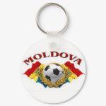 Moldovan Soccer Keychain