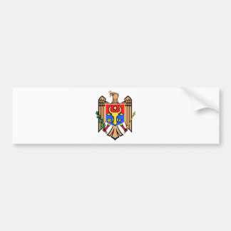 Moldova Coat of Arms Car Bumper Sticker