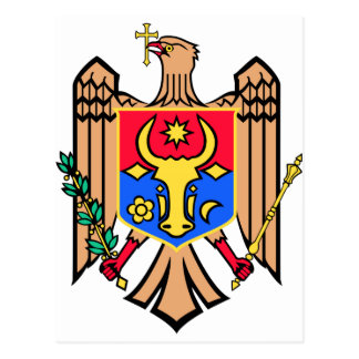 Moldova Coat of Arms Postcard