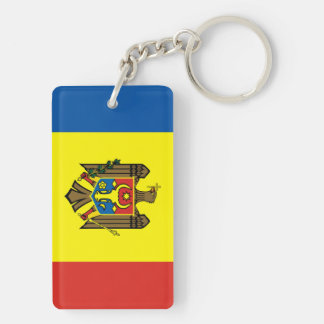 Moldova country flag nation symbol republic keychain