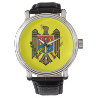 Moldova country flag nation symbol republic wristwatch