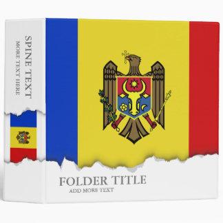 Moldova Flag 3 Ring Binder