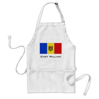 Moldova Flag Adult Apron
