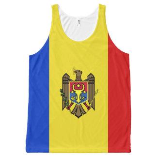 Moldova Flag All-Over-Print Tank Top