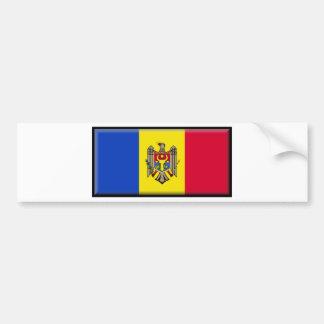 Moldova Flag Car Bumper Sticker