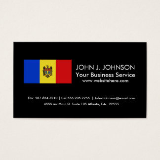 Moldova Flag Business Card