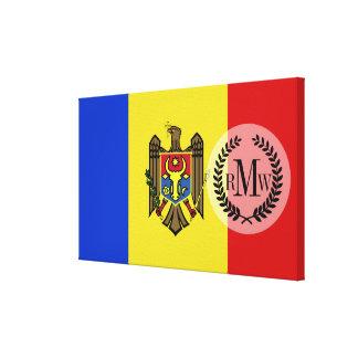 Moldova Flag Canvas Print