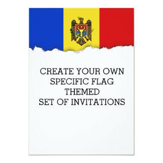 Moldova Flag Card