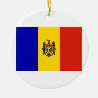 Moldova Flag Ceramic Ornament