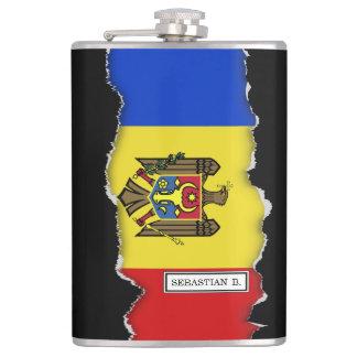 Moldova Flag Flask