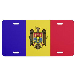 Moldova Flag License Plate