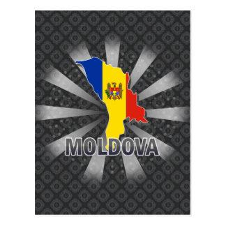 Moldova Flag Map 2.0 Postcard