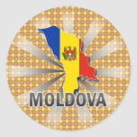 Moldova Flag Map 2.0 Sticker
