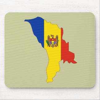 Moldova flag map mouse pad