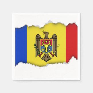 Moldova Flag Paper Napkin