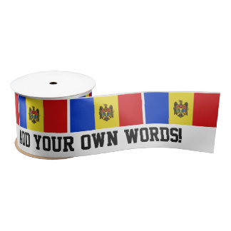 Moldova Flag Satin Ribbon