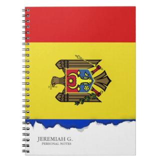 Moldova Flag Spiral Notebook