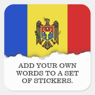 Moldova Flag Square Sticker