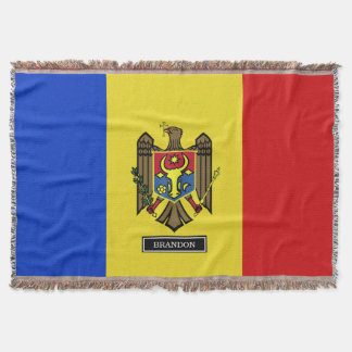 Moldova Flag Throw Blanket