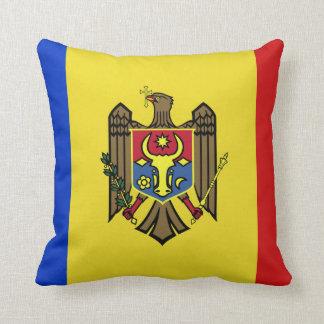 Moldova Flag Throw Pillow