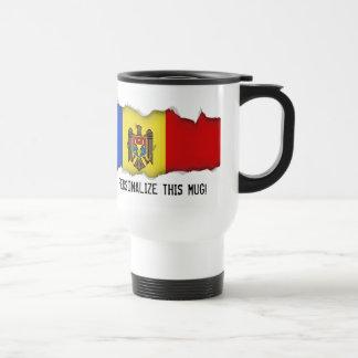 Moldova Flag Travel Mug