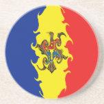 Moldova Gnarly Flag Coaster