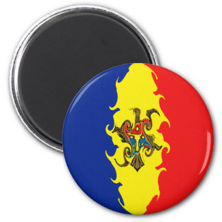 Moldova Gnarly Flag Magnet