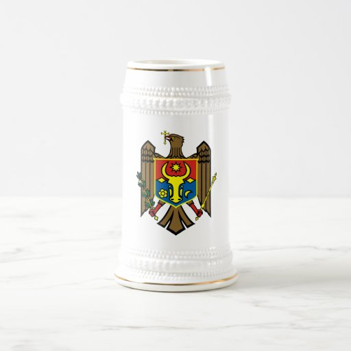 Moldova Official Coat Of Arms Heraldry Symbol Coffee Mugs