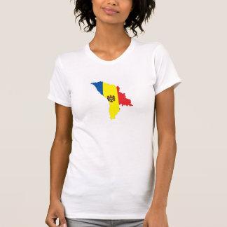 moldova republic country flag map shape symbol T-Shirt