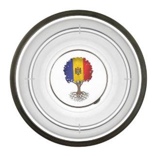 Moldovan Flag Tree of Life Customizable Pet Bowl