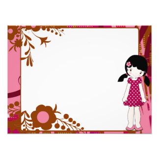 #Moldura for photo Girl Flower