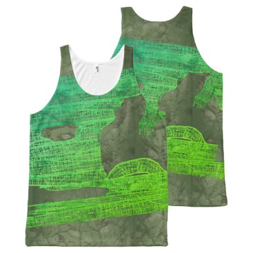 Halloween Themed MOLDY HALLOWEEN MUMMY WRAPPING by Slipperywindow All-Over-Print Tank Top