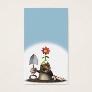 Mole Digging Hole Business Card