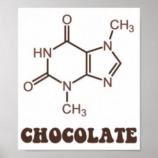 Molécula científica de la tebromina del elemento d posters