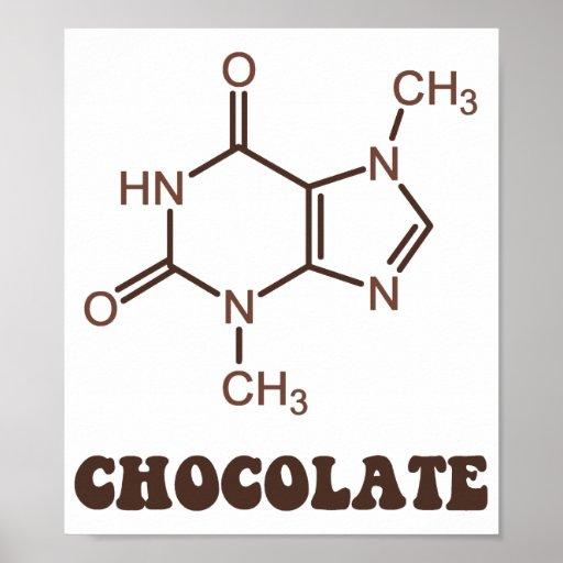 Molécula científica de la tebromina del elemento d póster